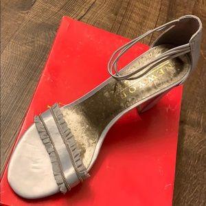 Brand new- silver heels!